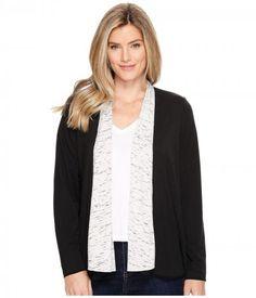 ExOfficio - Wanderlux Reversible Wrap (Black/Platinum Marl) Women's Sweater