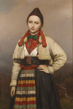 Joseph van Lerius: Young Girl from Dalarna by Joseph Henri François (Jozef) Van Lerius ( 1823 -1876 ) was a Belgian painter