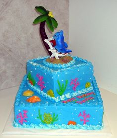 hmmm... Cute cake for a soon to be 7 year old! Any maybe a day at the beach to go with it!