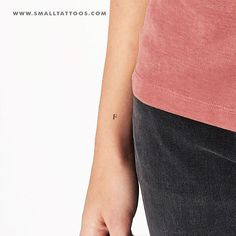 F Uppercase Serif Letter Temporary Tattoo (Set of