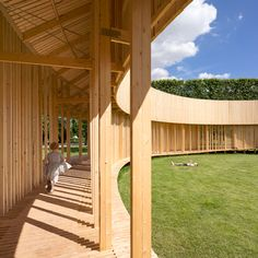 This circular pavilion provides a temporary events space in the leafy grounds of Copenhagen's Rosenborg Castle