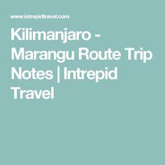 Kilimanjaro - Marangu Route Trip Notes | Intrepid Travel