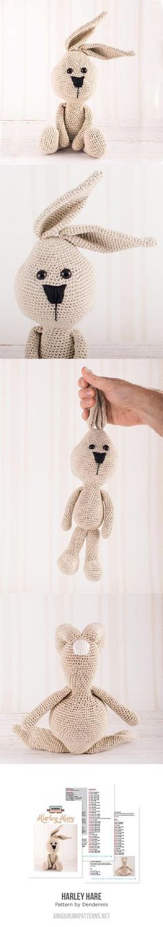 Amigurumi hare. (Pattern available to buy).