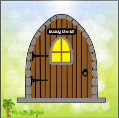 Elf Door 3 Designs with Option for Personalizing Digital Clipart Instant Download Full Color SVG and JPEG File - pinned by pin4etsy.com