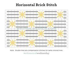 Horizontal Brick — whimsicalstitch.com