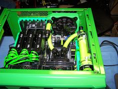 "HAF XB with Tri-SLI and three water cooling radiators - Project ""Green Machine"" - Page 10"