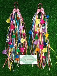 Lindo conjunto de elástico com fitas multicoloridas junina para cabelo. comprimento 35cm.    O comprimento do elástico deve ser de acordo com o comprimento do cabelo de quem usar.    os rabos de cavalos e chiquinhas ficam lindos!
