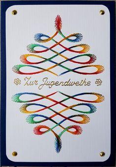 Swirl-a-thon als Jugendweihekarte - Motiv von Darsie Bruno  Doppelkarte mit Umschlag im Format B6 12,5 x 17,5 cm Eine Bestellung von meinem besten Freund zur Jugendweihe seines Neffen