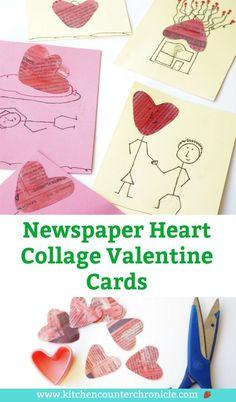 652 best valentines day for kids images on pinterest in 2018 newspaper heart valentine cards m4hsunfo
