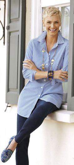 Moda melhor idade - anti-aging , camisas feminina