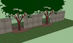 Corner Fence Landscaping Ideas | ... wrought iron fence here is the view of the fence from the street side