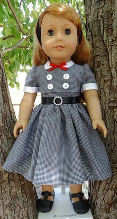 1950's Style School Dress for AG dolls by Designed4Dolls on Etsy $22.95