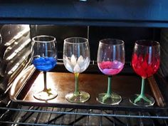 DIY Personalized Wine Glasses  http://coloradomamachic.blogspot.com/2011/08/personalized-wine-glasses.html