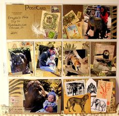 First Trip to the Zoo Layout - 7gypsies Serengeti Collection and Canvas Corp Kraft Post Cards Scrap 'n Art Magazine