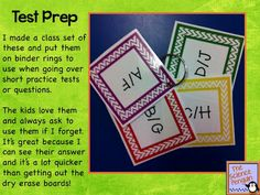 Multiple Choice Response Cards Freebie