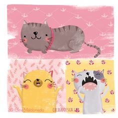Cats © Gina Maldonado 2015 cocogigidesign.com