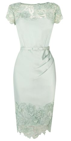 Mint lace bridesmaid dress