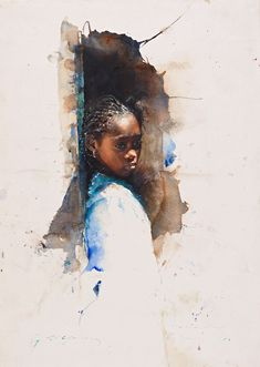 The official website for american artist Stephen Scott Young, modern master of realist watercolor and copperplate etchings. African American Art, American Artists, African Art, Watercolor Portraits, Watercolour Painting, Watercolor Trees, Watercolor Landscape, Watercolors, Art Aquarelle