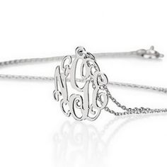 Silver Mini Monogram Necklace #silver #minimonogram