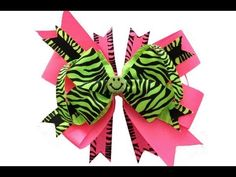 Easy Stacked Over The Top Neon Hair Bow Tutorial