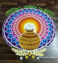 Free Hand Rangoli Design, Rangoli Kolam Designs, New Year Rangoli, Simple Rangoli, Color Powder, Bridal Collection, Beach Mat, Outdoor Blanket, Draw