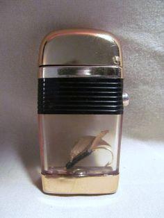 Vintage Scripto Gold Tone Fishing Hook Lighter