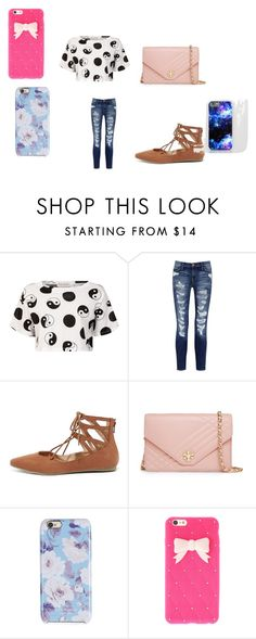 """""""at school being bored..."""" by bae03 on Polyvore featuring Être Cécile, Current/Elliott, Liliana, Tory Burch and Isaac Mizrahi"""