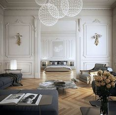 Home Decoration Living Room .Home Decoration Living Room Room Design, Neoclassical Interior, Home, Interior Design Inspiration, Bedroom Design, Cheap Home Decor, House Interior, Interior Design, Parisian Interior