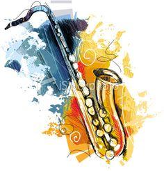 stock-illustration-21408341-abstract-saxophone.jpg (364×380)