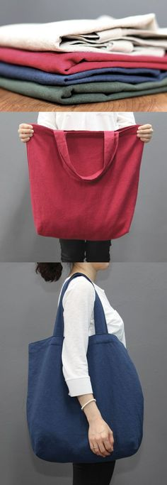 I can carry even larger items with this simple yet stylish the Large Linen Eco Bag!