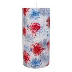 "Celebrate+Americana+Together+6""+x+3""+Firework+Pillar+Candle"