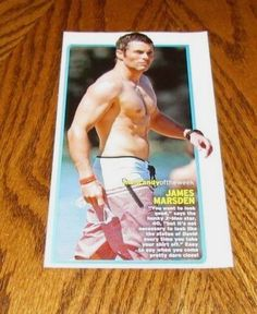 JAMES MARSDEN Muscular Shirtless Male Celebrity Hunk 4X7 PINUP Clipping Pic  | eBay
