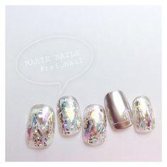 キラキラ綺麗で夏の指先にオススメな「メタリックネイル」のデザインをいろいろご紹介します♡ Love Nails, Pretty Nails, My Nails, Gel Nail Designs, Hair Designs, Mani Pedi, Manicure, Japanese Nail Art, Feet Nails