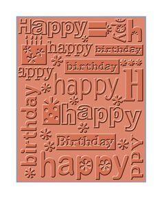 Cuttlebug Embossing Folder  HAPPY BIRTHDAY  by SeptemberPlayground, $4.87