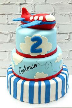 Airplane Birthday Cake by cdangelo | Cake Decorating Ideas