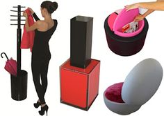 Use makeup or cosmetics as furniture