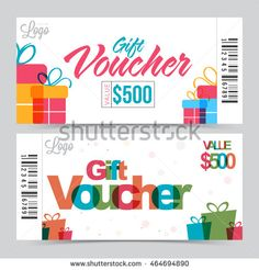 Gift Voucher Template The Announcement Of The Winning Vector