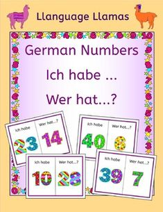 Free game - German Numbers up to 50 Zahlen Ich habe ... Wer hat ..? Great for beginners.
