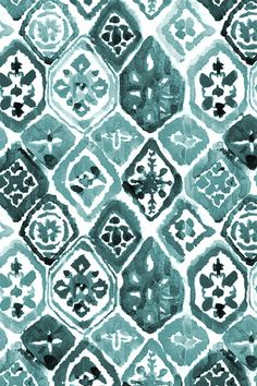 Green Shibori Mosaic by shopcabin - Turquoise hand painted pattern on fabric, wallpaper, and gift wrap. Emerald diamond pattern in a beautiful handpainted style. Fabric Wallpaper, Wallpaper Backgrounds, Iphone Wallpaper, Aztec Pattern Wallpaper, Hand Painted Wallpaper, Phone Backgrounds, Image Deco, Patent Drawing, Pattern Art