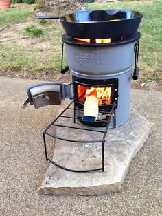 Rocket stove. For camping, but also as a cooking solution for the off the grid beach house.