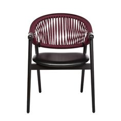 The Umami armchair with Genova rope back features a backrest made from two curving bentwood beech pieces that combine with four legs to create a sleek and slender frame. The upholstered seat is comfortable, the rope back intriguing. The rope is woven by hand, adding an artisanal element into the mix and when paired with the light frame, makes for a truly striking rope chair. Outdoor Chairs, Outdoor Furniture, Outdoor Decor, Contemporary Dining Chairs, Fabric Suppliers, Cribs, Armchairs, Wood, Legs