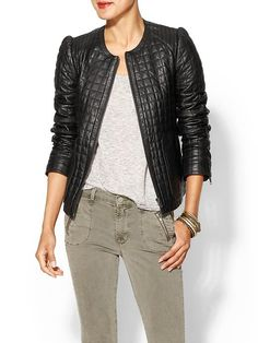 AMAZING quilted leather jacket for fall!!