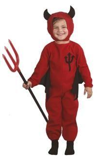 Küçük Şeytan Kostümü, 3-4 Yaş Parti Kostümleri - Unisex Çocuk Parti Kostümleri Cadılar Bayramı / Halloween Kostümleri: Kostümlü Parti, Kıyafet Balosu, Okul Gösterileri, Cadılar Bayramı Temalı Partiler için ideal kostüm.  Tulum ve başlık kostüm. Kuyruklu ve kanatlı tulum ve boynuzlu başlıktan oluşur. Resimdeki şeytan çatalı kostüme dahil değildir, ayrı satılır!