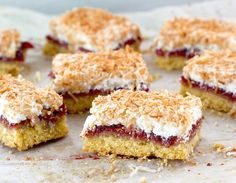 Louise Cake, with its shortcake crust slathered with raspberry jam and crowned with a delicately crisp coconut meringue,has been part of the New Zealand landscape for a very long time.