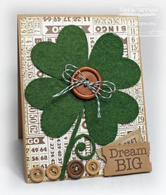 paper crafts by Debbie Carriere St. Patrick's Day Diy, St Patrick's Day Crafts, Holiday Crafts, St Patricks Day Cards, Saint Patricks, Felt Crafts, Paper Crafts, St Patrick's Day Decorations, St Paddys Day