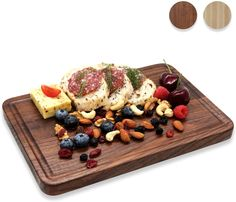 At Alddn.com we believe beautiful wood cutting boards are indispensable sources to happiness and creativity. It is our mission to bring that to YOU and YOUR FAMILY. @Alddnus relentlessly strive for touchable and lasting greatness in our all-natural premium wood cutting boards - each of Alddn cutting boards is blessed with modern design, expert craftsmanship and top-grade materials. Modern Serving Trays, White Serving Tray, Serving Tray Decor, Food Serving Trays, Serving Trays With Handles, Food Trays, Wooden Platters, Wooden Food, Wood Chopping Board