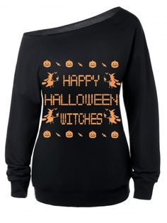 GET $50 NOW | Join RoseGal: Get YOUR $50 NOW!http://www.rosegal.com/sweatshirts-hoodies/skew-neck-witches-print-halloween-697573.html?seid=6860789rg697573