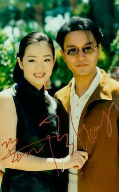 Leslie Cheung with Gong Li
