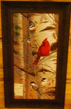 """Unannounced Visitor by Jerry Gadamus. Approximate Size with Frame: 15"""" x 26"""". Available at Cabin Creations in Phillips, WI. www.cabincreationswi.com"""