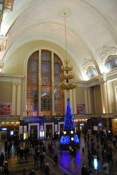 Christmas in Kiev Train Station, Ukraine